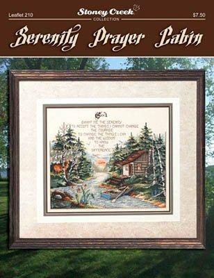 Serenity Prayer Cabin (Leaflet 210) Cross Stitch Chart and Free Embellishment
