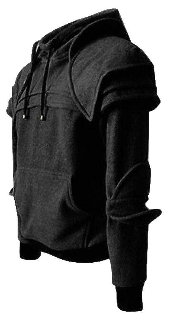 Sweatwater Mens Hoodie Loose Medieval Long-Sleeve Pullover Casual Sweatshirts