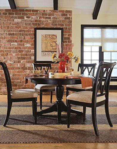 American Drew Camden-Dark 5 Piece Round Dining Room Set in Black