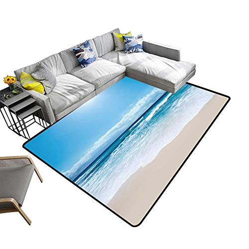 alsohome Modern Abstract Area Rug Gorgeous Australian Beach in Southern NSW Durable and Resistant to Soiling 5' X 8' (Outdoor Furniture Nsw)