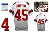 Archie Griffin Signed Custom Jersey - PSA/DNA - Autographed - College Style - White