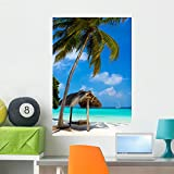 Wallmonkeys WM280153 Swing on a Tropical Beach Wall Decal Peel and Stick Graphic (36 in H x 24 in W)