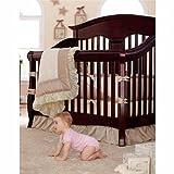 kidsline crib bumper - Kidsline Babi Italia Luna 7-pc Neutral Crib Bedding Set