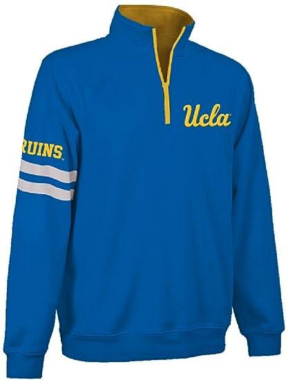 UCLA Bruins Light Blue Stadium Embroidered Quarter Zip Pullover Sweatshirt  (X-Large) 310762584
