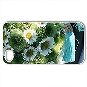 Beautiful bouquet - Case Cover for iPhone 4 and 4s (Flowers Series, Watercolor style, White)