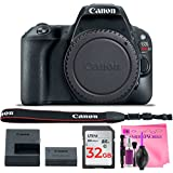 Canon EOS Rebel SL2 Digital SLR Camera Body - (WiFi Enabled) with Camera Works Premium Cleaning Solution & 32GB High-Speed Memory Card