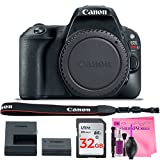 Cheap Canon EOS Rebel SL2 Digital SLR Camera Body – (WiFi Enabled) with Camera Works Premium Cleaning Solution & 32GB High-Speed Memory Card