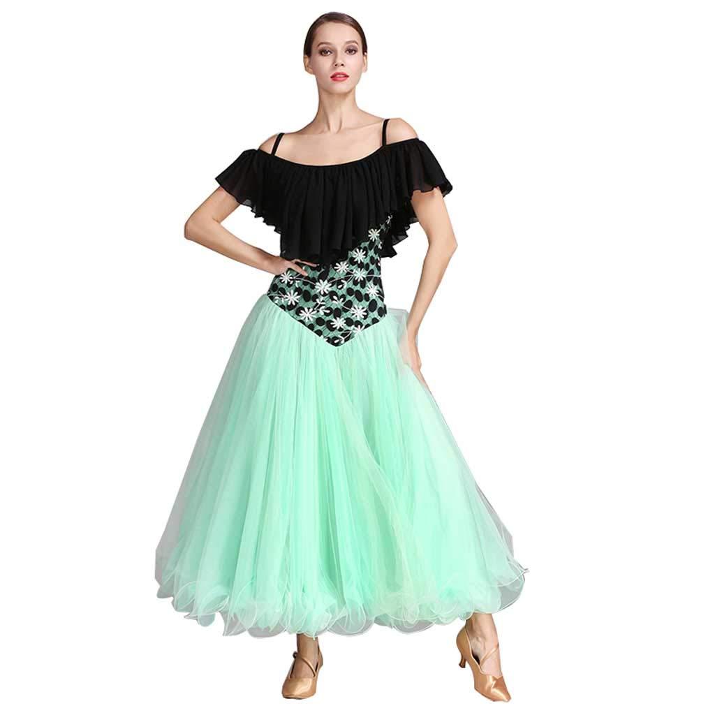 上品なスタイル アダルトレディースモダンダンススカートビッグスイングスカート s、ワルツスカート B07HF9WDK4 S S s|グリーン グリーン S グリーン s, 湘南こまものや:a71706d3 --- a0267596.xsph.ru