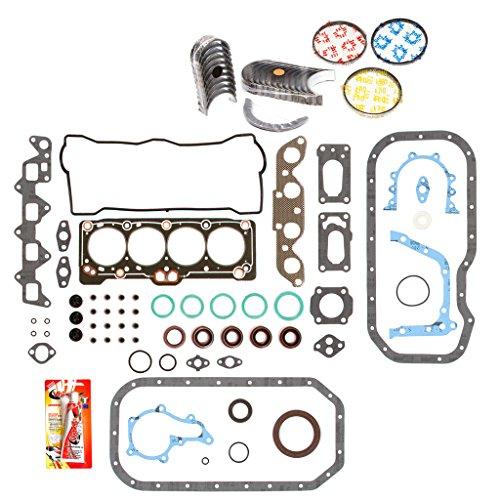 Domestic Gaskets Engine Rering Kit FSBRR2011EVE\0\0\0 Fits 88-93 Toyota Celica Geo Prizm 1.6 DOHC 4AF 4AFE Full Gasket Set, Standard Size Main Rod Bearings, Standard Size Piston Rings