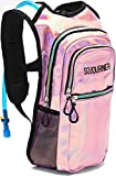 Cheap Sojourner Rave Hydration Pack Backpack – 2L Water Bladder Included for Festivals, Raves, Hiking, Biking, Climbing, Running and More (Medium) (Holographic – Pink)