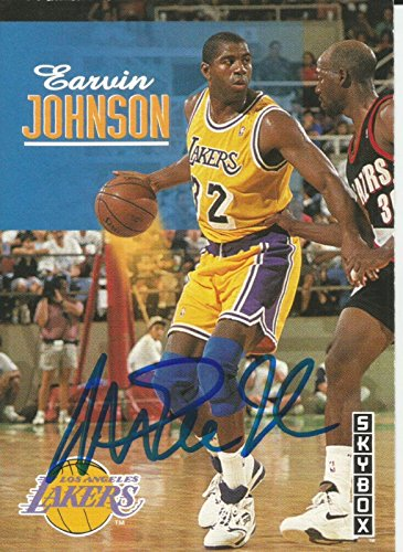 1c1b46399cdc 1993 Skybox Los Angeles Lakers Magic Johnson Signed Auto Card IN PERSON  PROOF - Basketball Autographed Cards