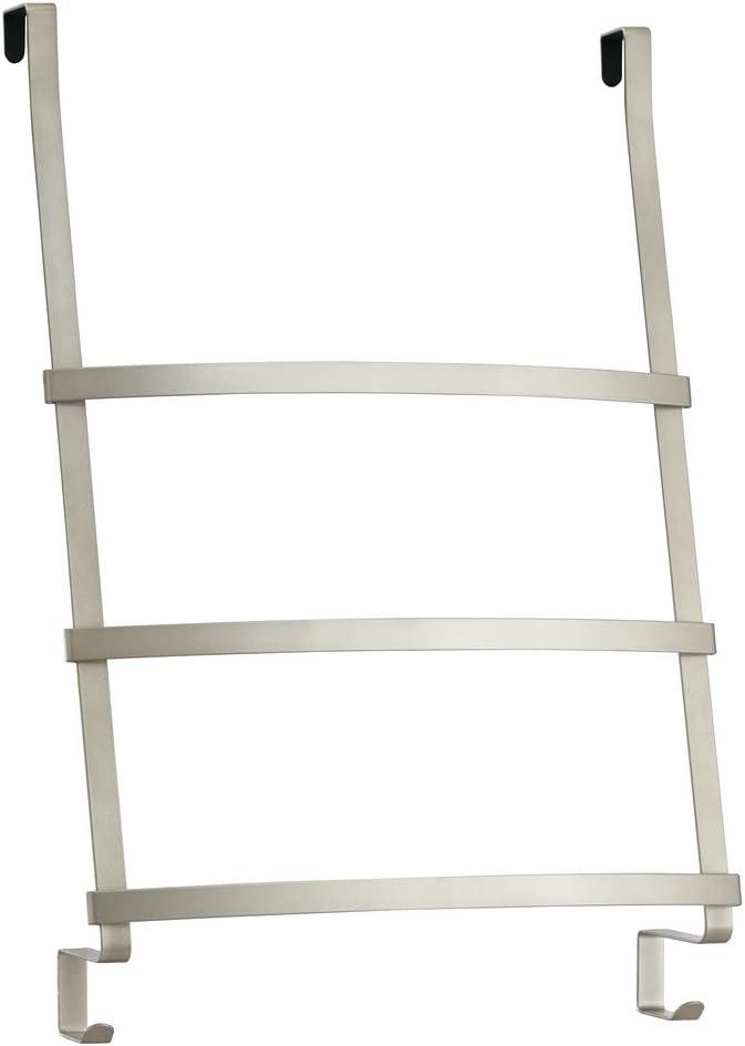 InterDesign Toallero Escalera, para Colocar sobre Perfil de Puerta, Acero, Blanco, 42.7x16.7x61.3 cm: Amazon.es: Hogar