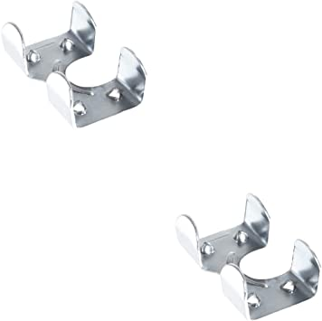 Zinc Plated Metal Clips for 3//8-inch Ravenox Metal Clamps for Rope | Cables /& Cords 3//8-inch x 50 Pack | Medium Duty Zinc Plated or Brass Plated Double Rope Clamps 1//2-inch or 5//8-inch Ropes