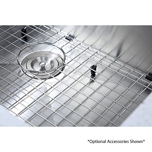Decor Star H-001-Z 32 Inch x 19 Inch Undermount Single Bowl 16 Gauge Stainless Steel Luxury Handmade Kitchen Sink cUPC Zero Radius by Decor Star (Image #4)