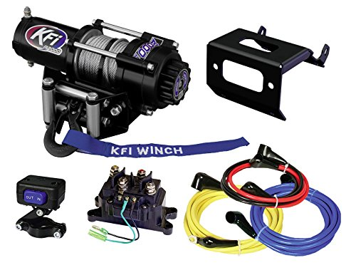 KFI Combo Kit - A2000 Winch & Winch Mount - 2014-2018 Honda Rancher TRX420 FE1 A2000 Winch