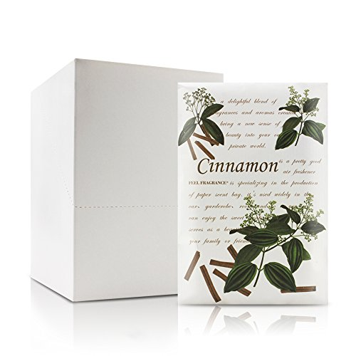 (Feel Fragrance Scented Sachet for Drawer and Closet Sachets, Lot of 12 (Cinnamon))