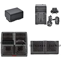 BP-727 Canon Replacement Battery + Car / Home Charger + Battery Pouch for Canon LEGRIA, VIXIA, HF M56, M506, R38, R36, R306 & More
