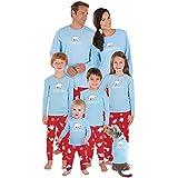 PajamaGram Chill Out Family Pajamas - Christmas Pajamas, Blue, Women's, M, 8-10