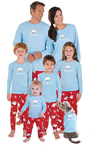 PajamaGram Chill Out Family Pajamas - Family Christmas PJs Set, Blue, Men's, MD -