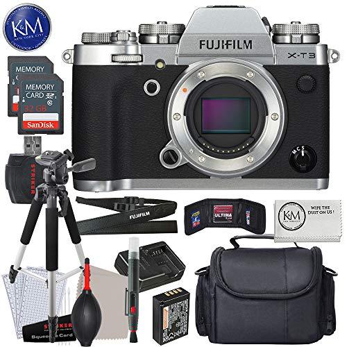 FUJIFILM X-T3 Mirrorless Digital Camera (Body Only, Silver) w/Advanced Striker Bundle