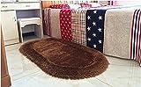 CarPet European-Style Living Room, Bedroom Pastoral Cute, Stretch Silk, Wedding mattresses (Color : Brown, Size : 70140cm)
