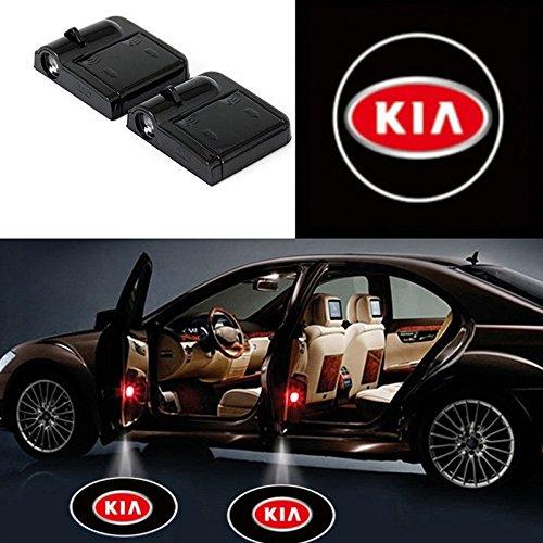 Bearfire 2 Pcs Wireless Car Door Led Welcome Laser Projector Logo Light Ghost Shadow Light Lamp Logos  Kia