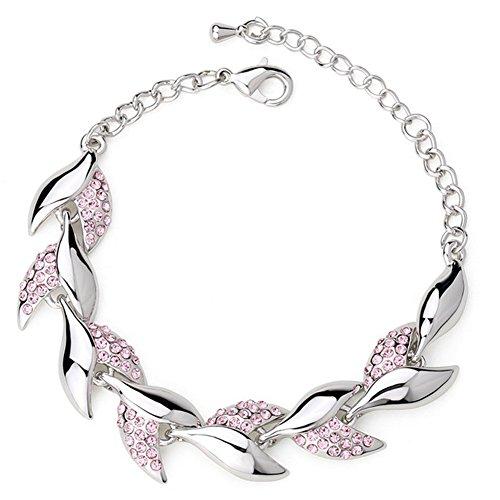 Rada Costume Jewelry (MosierBizne Crystal Leaf Bracelet)