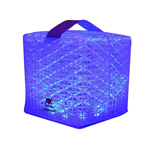 Solight Design Outdoor Solar-Powered Light, Color-Changing LED Lantern - Waterproof, Compact, Portable - SolarPuff Multicolor by Solight Design