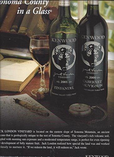 (Magazine PRINT AD For Kenwood Wines: Sonoma In A Glass)