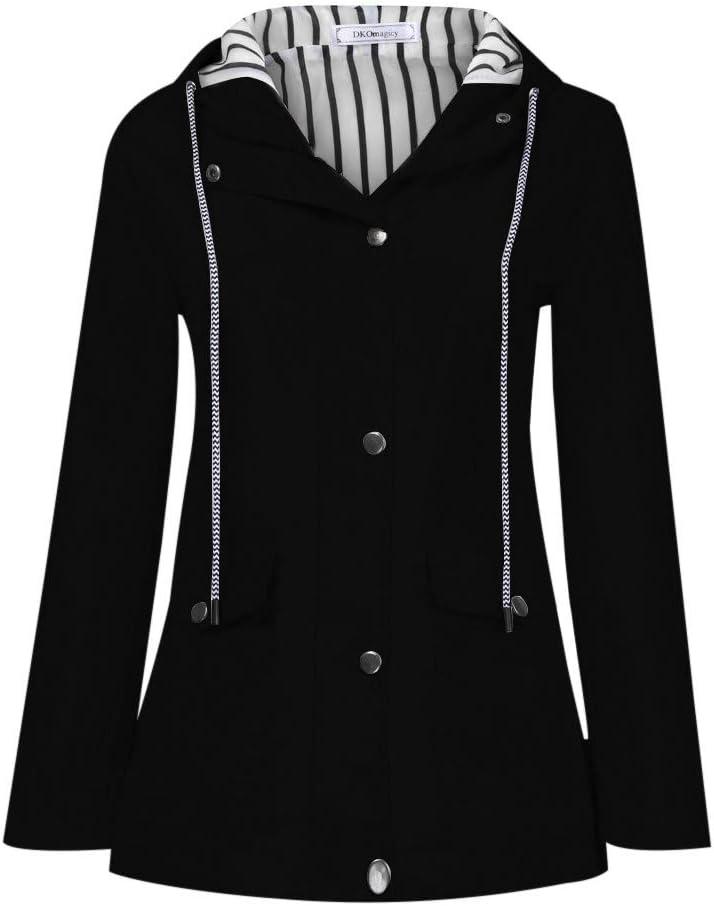 Adults Womens Mens Waterproof Raincoat Long Trench Unisex Rain Coat Jacket AU