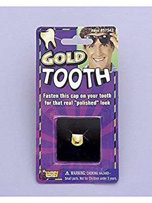 Gold Tooth Cap (Pack of 12) by Forum Novelties