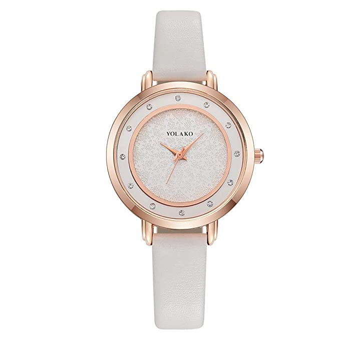 Amazon.com: Iuhan Wrist Watch for Women Girls Holiday Deals, Womens Casual Quartz Leather Band Newv Strap Watch Analog Wrist Watch Great Gift for Christmas ...
