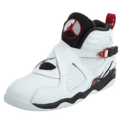 Jordan 8 BP Little Kid(PS) Shoes White/Gym Red/Black 305369-104 by Jordan