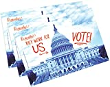 Vote Postcards.'They Work for us!' Perfect for Writing to Your Representatives or Get Out the Vote Campaigns like Postcards to Voters (100)