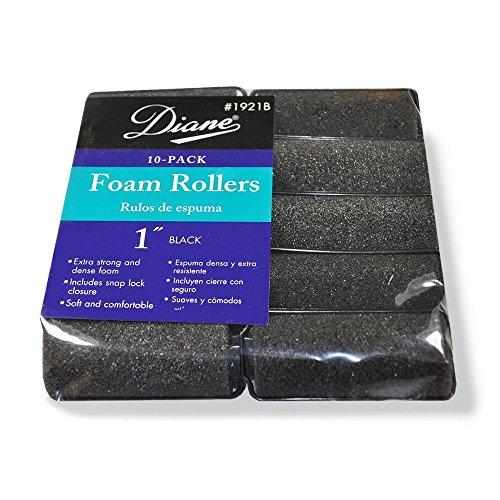 - Diane Foam Rollers, Black, 1