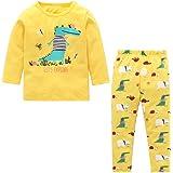 Logobeing 2PC/Conjunto Ropa Bebe Recien Nacido Verano 0-24 Meses Niños Ojos de Dibujos Animados Camisetas y Pantalones
