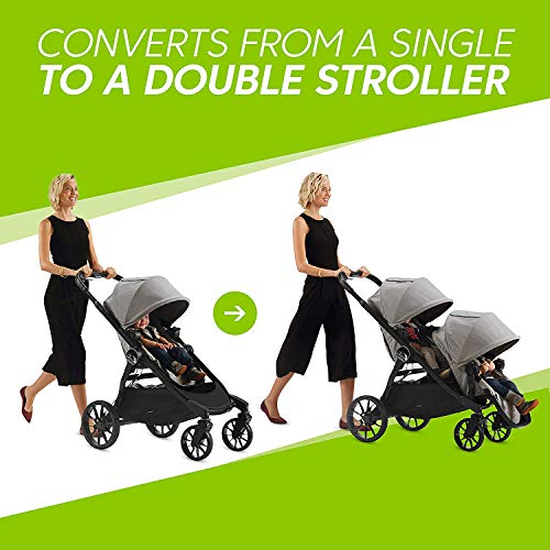 511ziLb%2B18L - Baby Jogger City Select LUX Stroller | Baby Stroller With 20 Ways To Ride, Goes From Single To Double Stroller | Quick Fold Stroller, Slate
