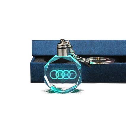 AimdonR - Llavero Creativo LED para Coche, con luz de Cristal, para Cambiar de Llavero, Audi