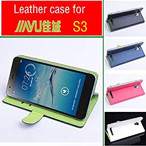 High Quality Green Bottom New Original JIAYU S3 Leather Case Wellet Flip Cover for JIAYU S 3 Case Phone Cover In Stock --- Color:Blue