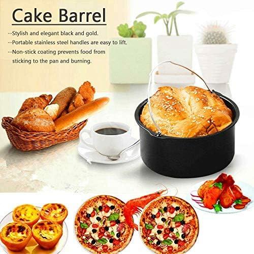 Non-Stick Baking pan Cake pan, Cake Barrel air Fryer Accessories 6
