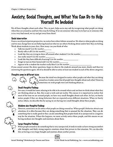 Social Thinking Thinksheets for Tweens and Teens: 9781936943166 ...