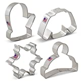 Ann Clark Winter Christmas Cookie Cutter Set 4pc USA Made Steel Deal (Small Image)