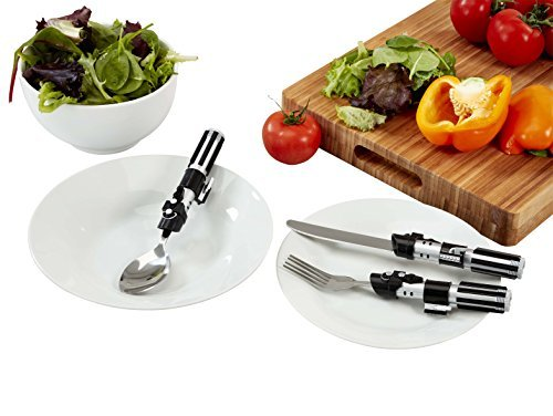 Amazon.com: Star Wars Darth Vader Lightsaber cutlery set (spoon and knife & fork) / STAR WARS 2015 DARTH VADERS LIGHTSABER CUTLERY SET [parallel import ...