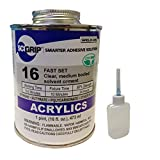 IPS Weld-On 16 Acrylic Plastic Cement with Needle, Pint and Weld-On Applicator Bottle, Clear