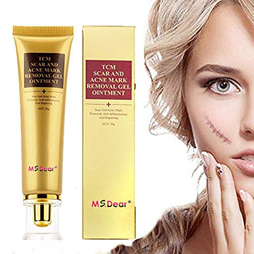 MS.DEAR Remove Scar Cream Scar Gel Acne Scar Removal Cream 1.06oz, Skin Repair Treatment, for face & the whole body, HERBAL SCAR AND ACNE MARK REMOVAL GEL