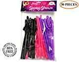 Sipping Straws for Bachelorette, Bridal, Hen, Bride to Be Party and Girls Night Out - Fun Party Favors Decoration - 30 Pack (Pink, Purple, Black) - Best Bachelorette party supplies