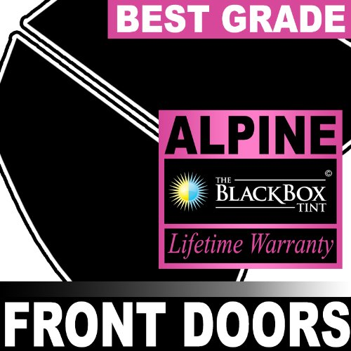 Chevy Traverse 13 2013 Precut Front Doors Tint - Super High Heat Rejection Black Box Alpine - ()