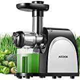 Juicer, Aicook Slow Masticating Juicer, Cold Press Juicer Machine, Higher Juicer Yield and Drier Pulp, Juice Extractor with Quiet Motor and Reverse...
