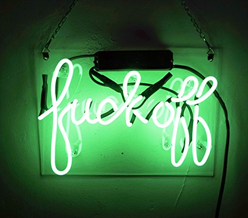'Fuck Off' 11.8'' x 8.3'' Neon Sign Gaming for Bar Pub Billards Pub Home Bedroom Hotel Beach Cocktail Recreational Game Room by KUKUU