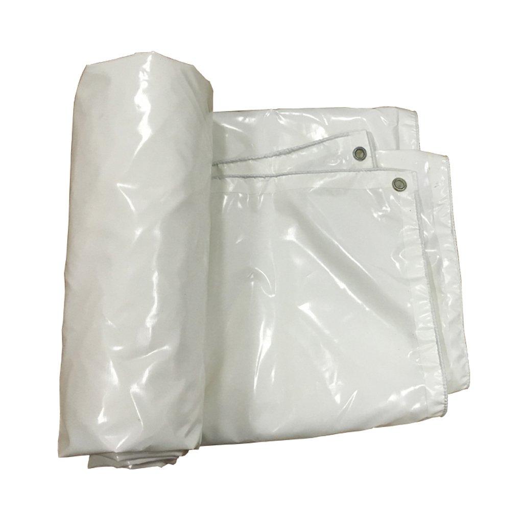 厚い防水性防水透湿性日焼け止め屋外日除け布防水性防水シート防水テント (色 : 白, サイズ さいず : 4 * 4m) B07FLV54TW 4*4m|白 白 4*4m